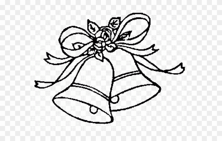 Wedding Bells Clip Art Black And White