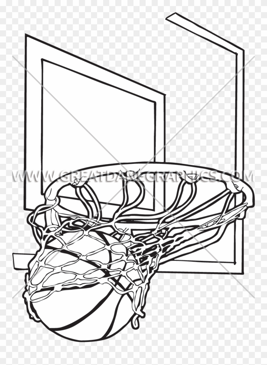 Basketball Net Drawing At Getdrawings Basketball Hoop Drawing Clipart 152257 Pinclipart
