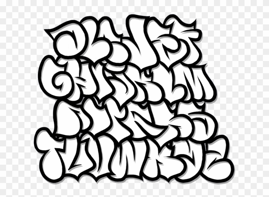 Image Library Stock Bubble Letter Clipart - Graffiti
