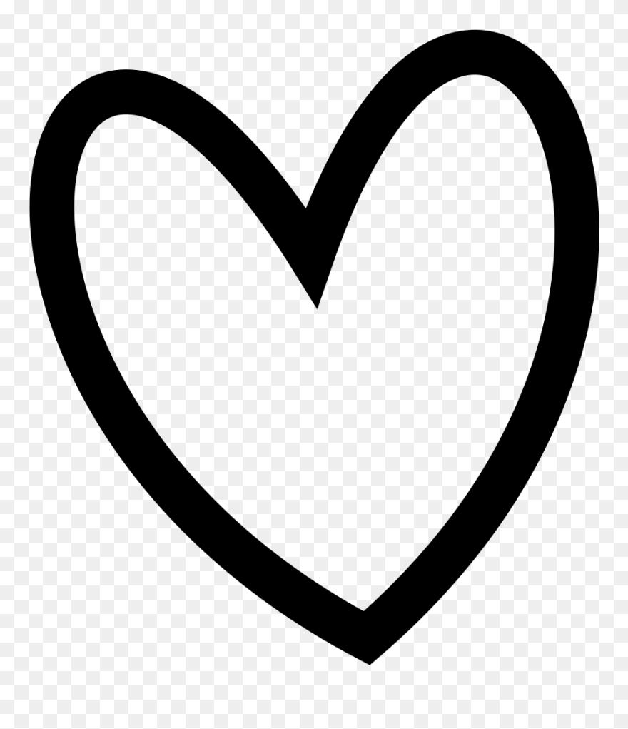 Slant Black Heart Outline Clip Art At Clker - Heart Clip ...