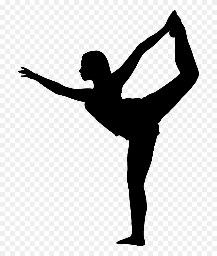 Clipart Female Yoga Pose Silhouette 32 Black Girl Ballerina - Yoga