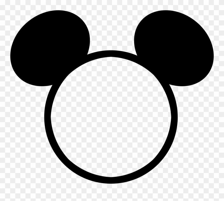 Mickey mouse head outline. Png frame clipart