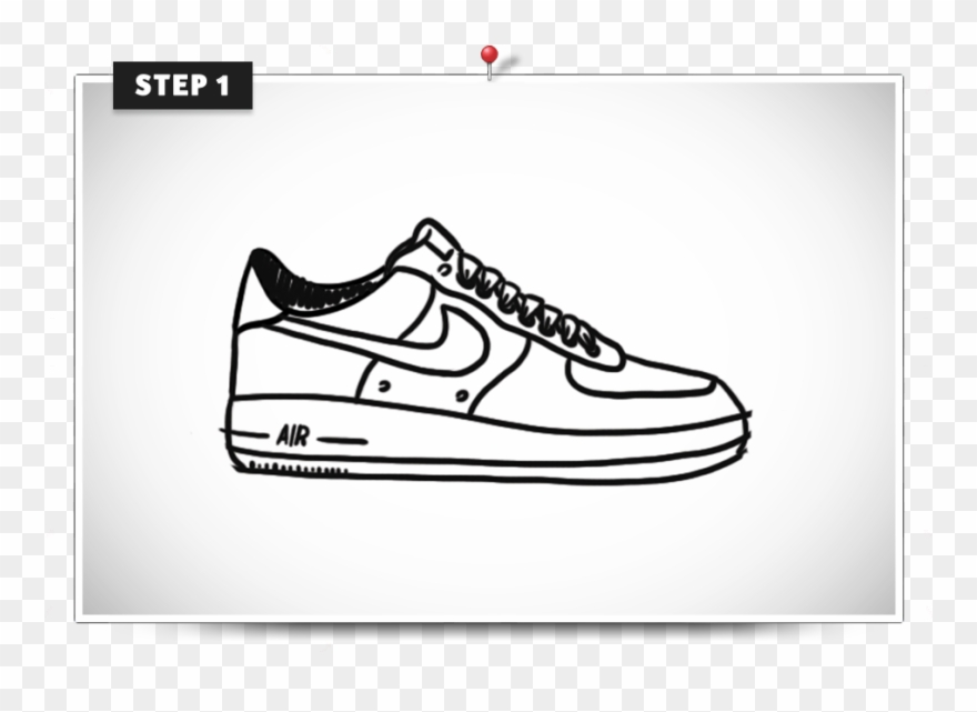 timeless design d8afa 95681 Footprints Clip Art - Air Force One Drawing Easy - Png Download