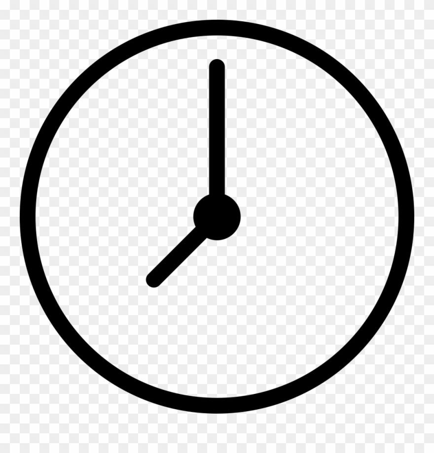 Clip Library Download Png Icon Free Download - Simple Clock