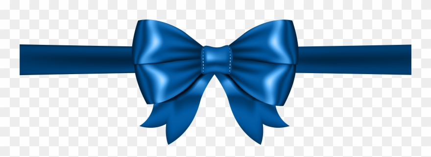 Bow blue. Clipart ribbon with png