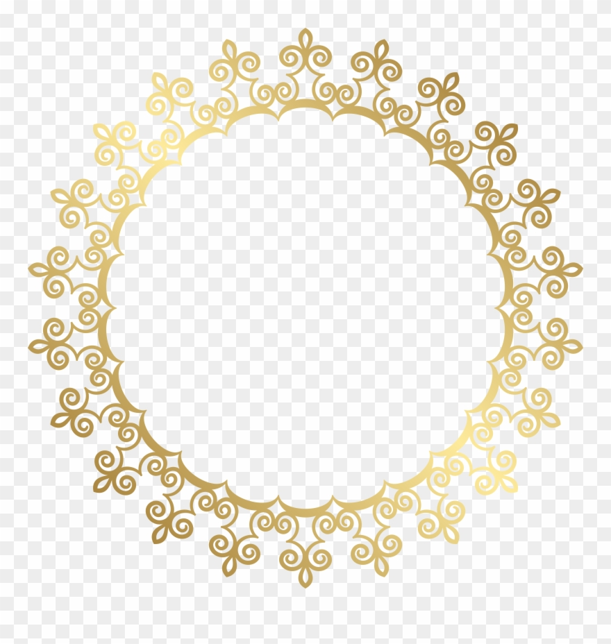 6eb6d5b15293 Round Gold Border Frame Transparent Clip Art Image - Png Download ...