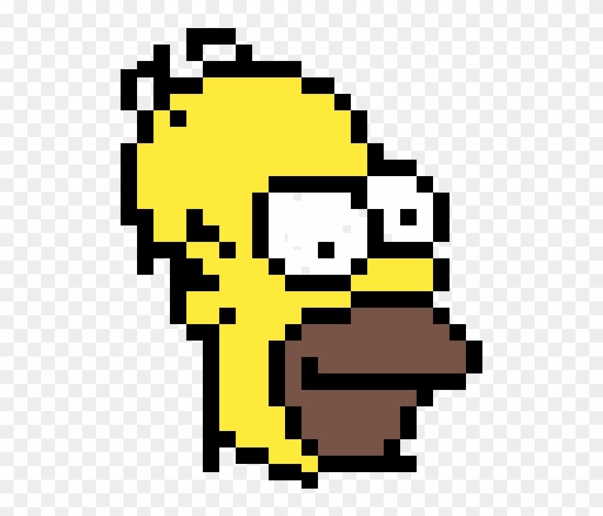 Homer Simpson Sorush Homer Pixel Art Clipart 1500402
