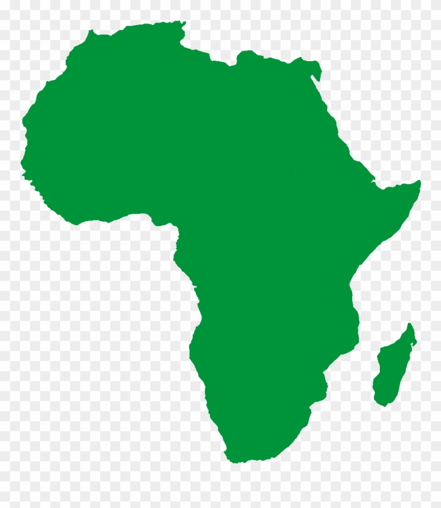 4 Clipart   Black African Map Png Transparent Png (#1503701