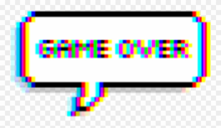 Game Gameover Glitch Tumblr Balloon Text Picsart Game Over