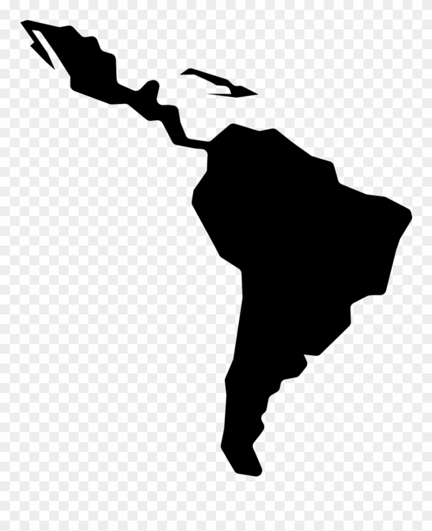 Map Of America Png.Clip Art Free Library Latin America Clipart North Central And