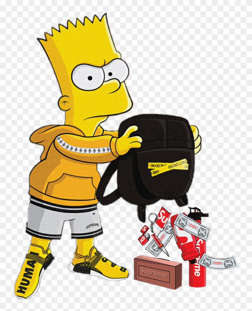 Bart simpson supreme gucci simpsons brick bartsupreme clipart