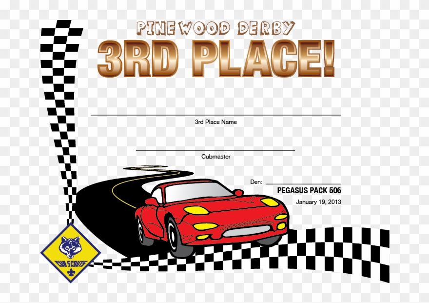 image about Free Printable Pinewood Derby Certificates referred to as Pinewood Derby Award Certification Template Particularly B Lead to - 1st