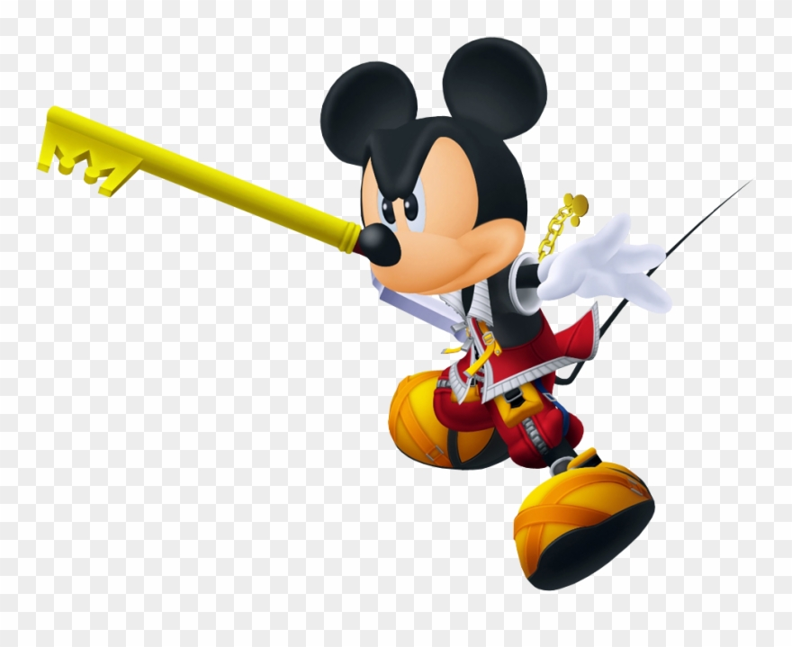 Clipart Key Mickey Mouse Kingdom Hearts Mickey Fighting Png Download 1525952 Pinclipart