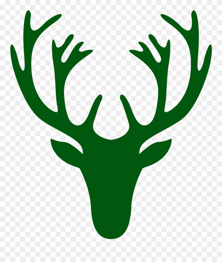 Deer head easy. Close simple drawing clipart