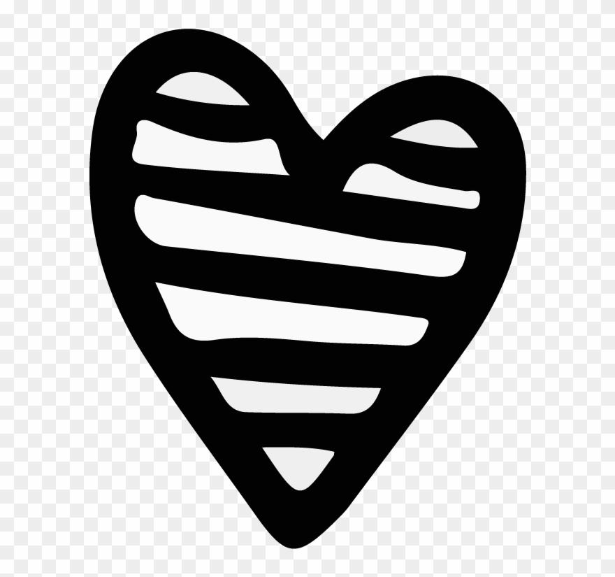Avocado Drawing Heart - Hand Drawn Heart Png Clipart