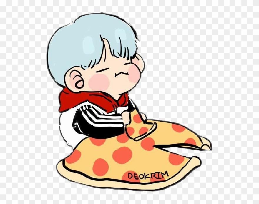 Pizza Bts Yoongi Bts Chibi Kawaii Bagtansonyeondan