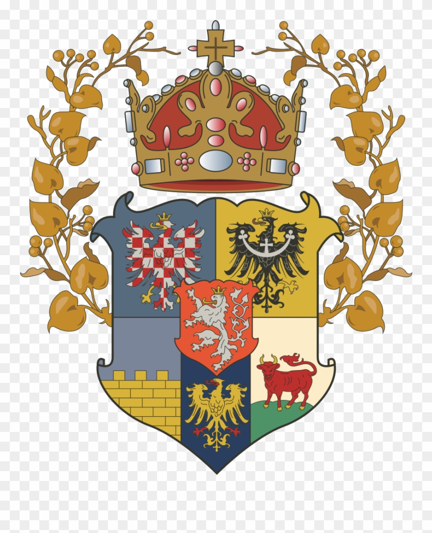 Coat of arms crown. The lands bohemian greater