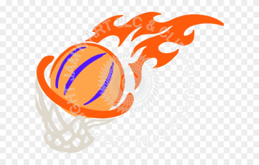 Basketball flaming. Fire cliparts png download