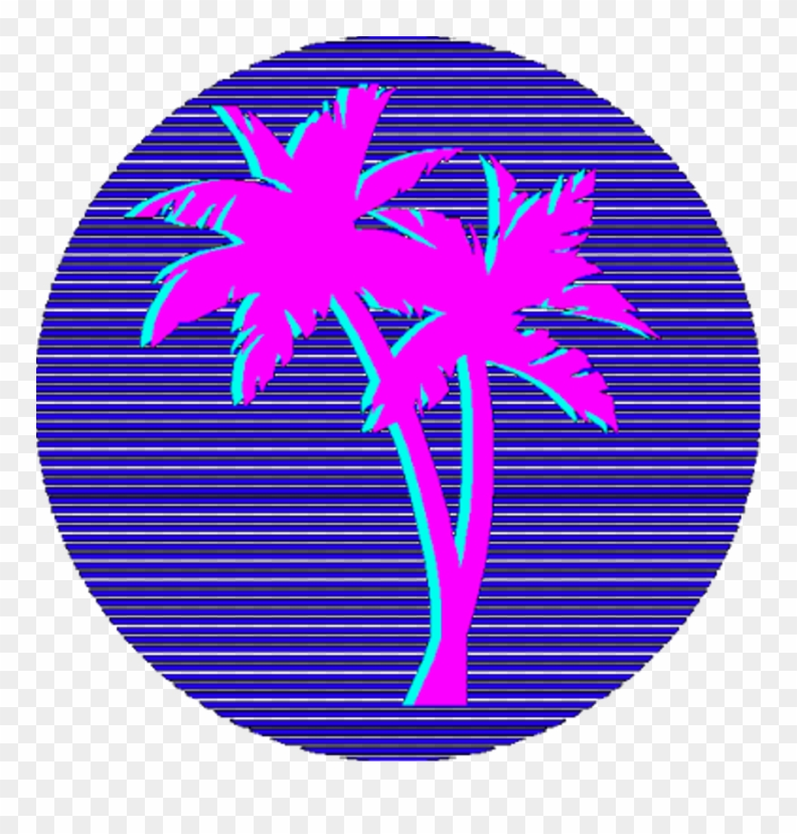 Vaporwave aesthetic glitch art. Vapor grunge palmtree vaporwaveaesthetic