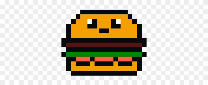 Kawaii Burger Pixel Art Maker Pixel Hamburger Clipart