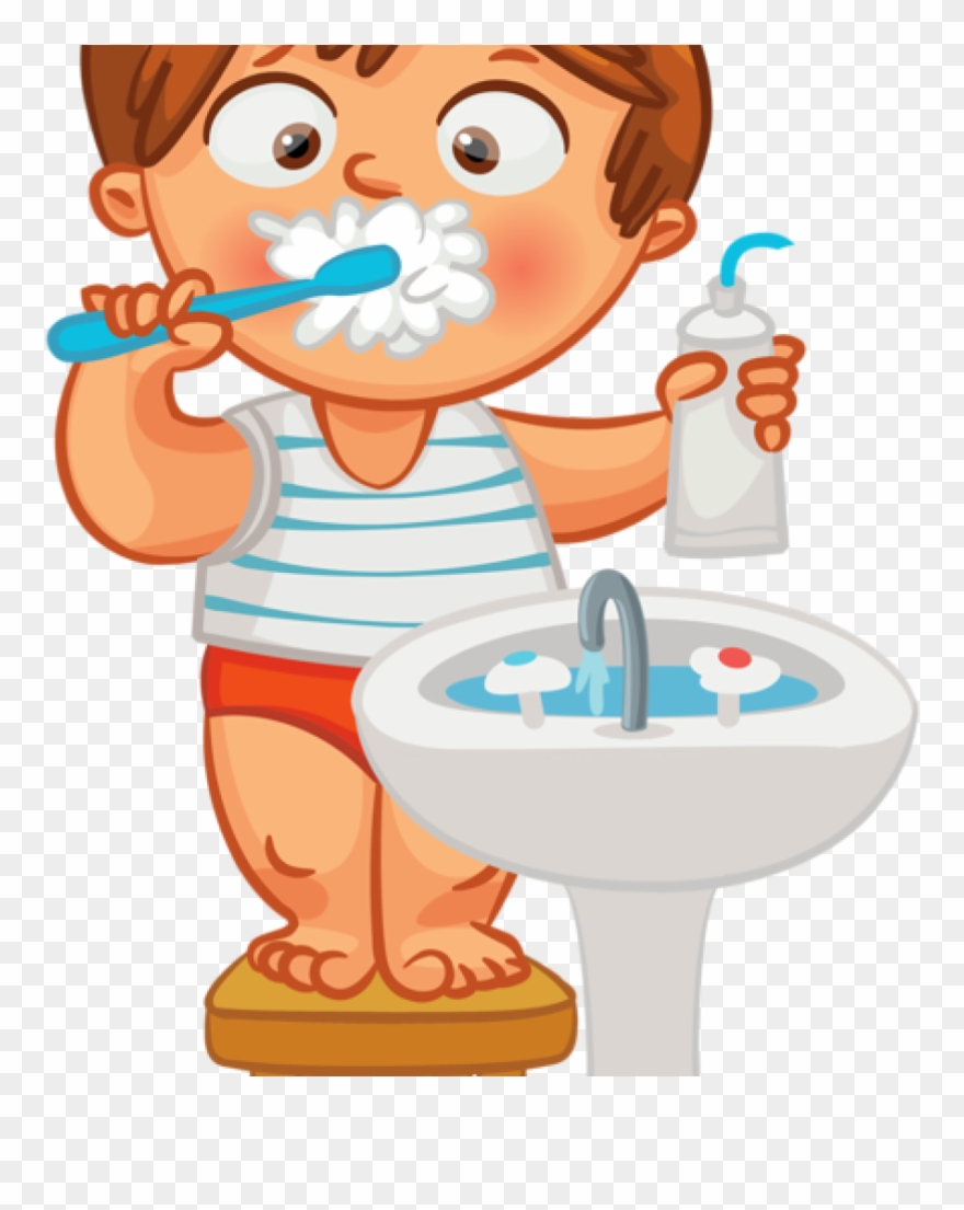 Child Brushing Teeth Clipart Brush Teeth Hair Clipart Png Download 1554058 Pinclipart
