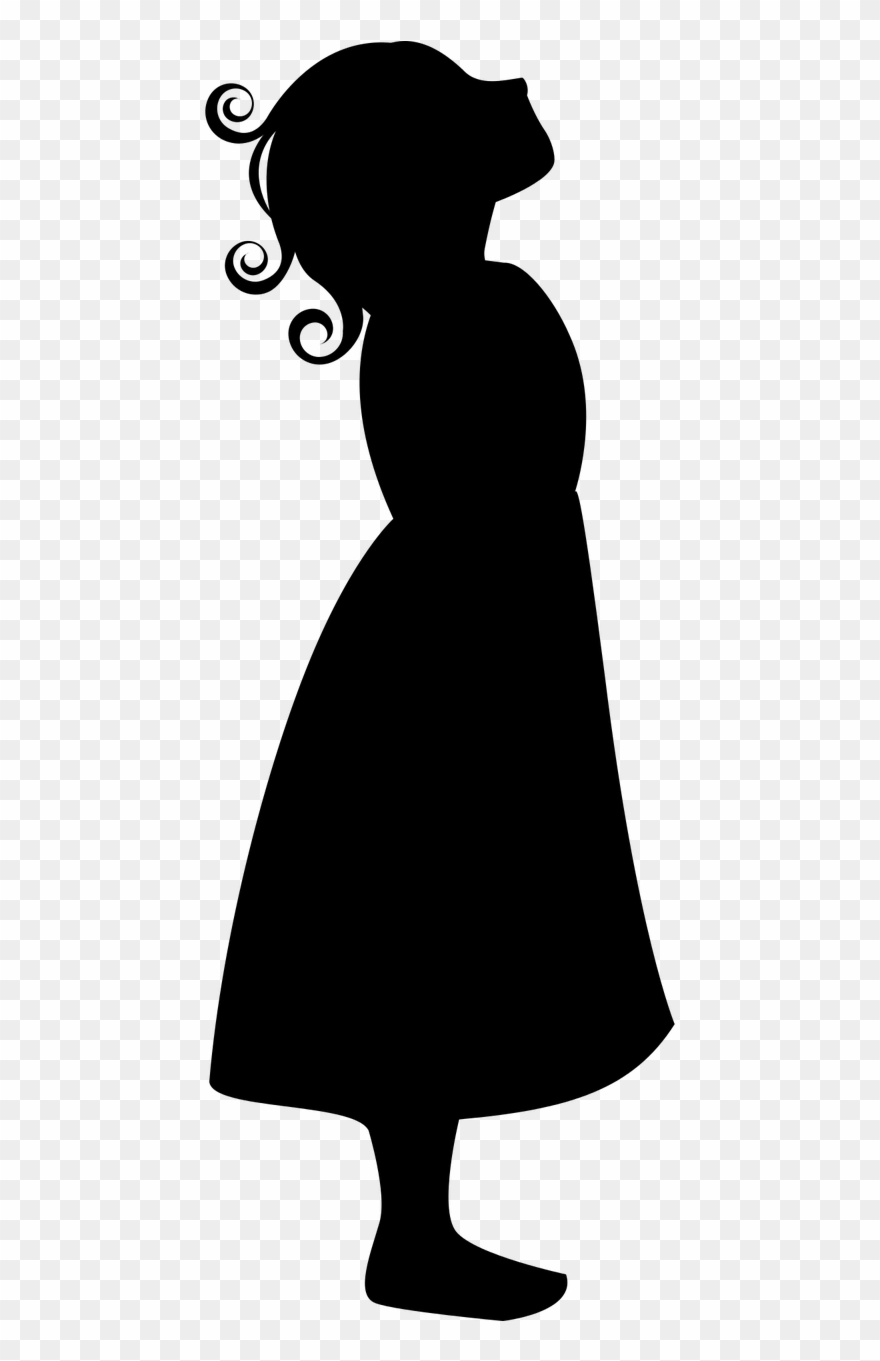 Girl silhouette remake girl looking up clipart png download