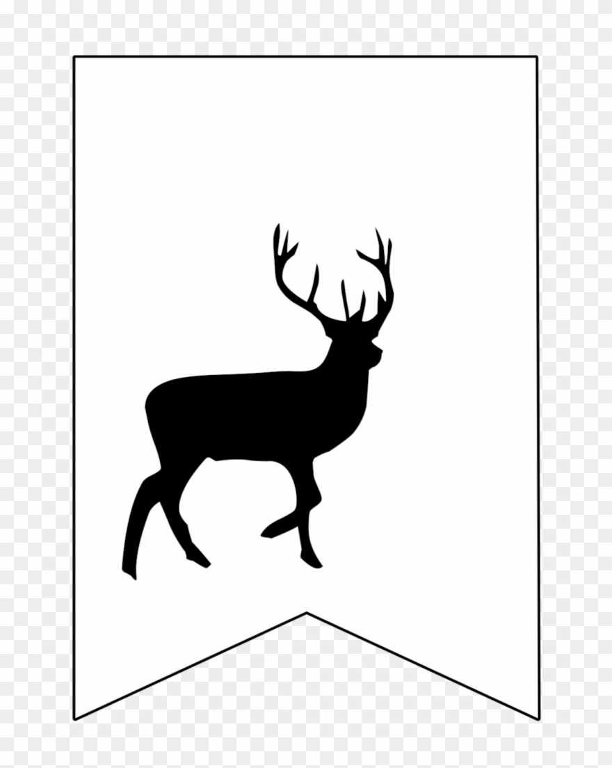 graphic about Deer Stencil Printable referred to as Harry Potter Banner Cost-free Printable Decor - Complete Overall body Deer