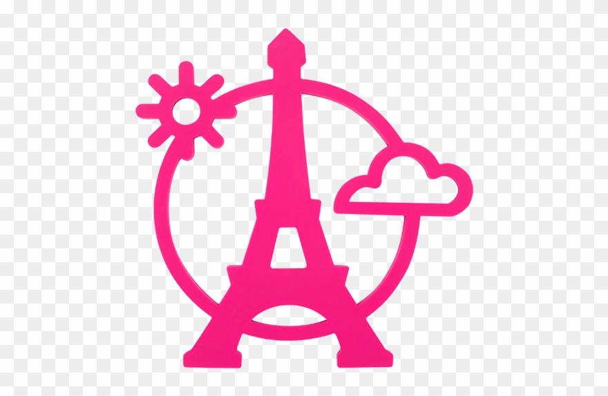 wholesale dealer 476b9 e466f Magnetic Eiffel- Dessous De Plat Pink - Eiffel Tower Icon ...