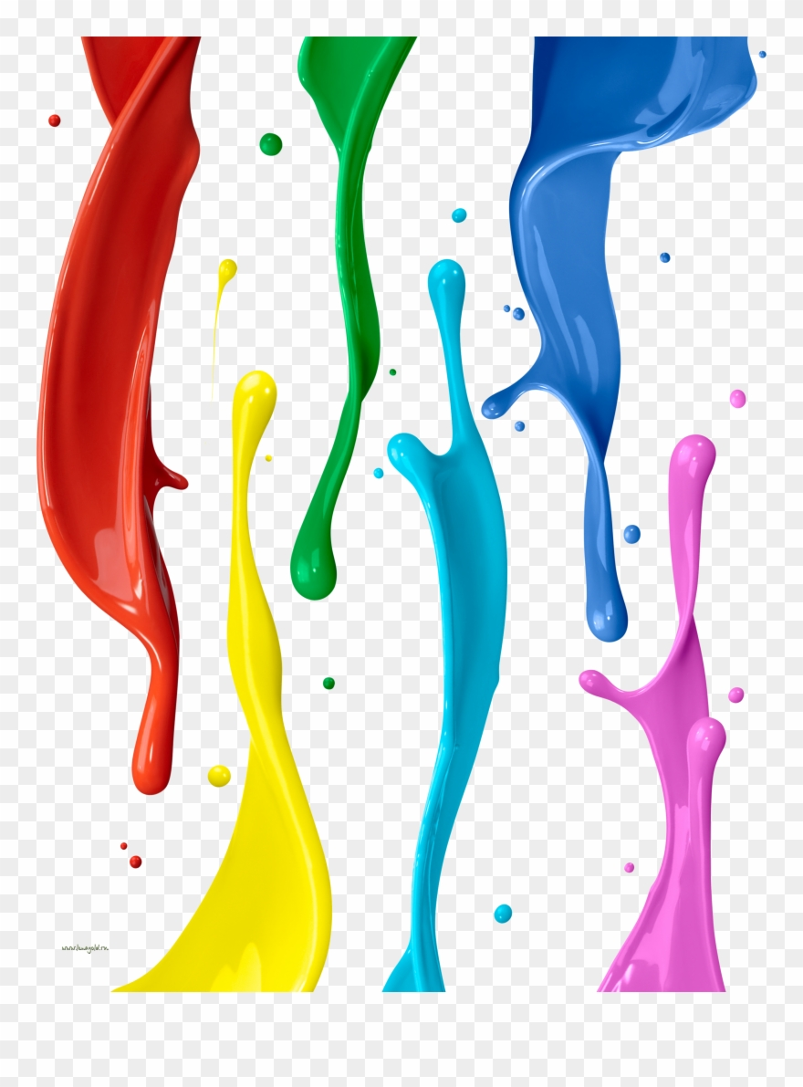 Painting Color Clip Art Colour Splash On Wall Png Transparent Png