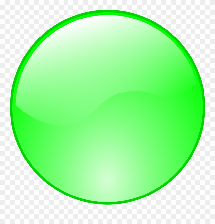 Circle green. Button clipart icon png