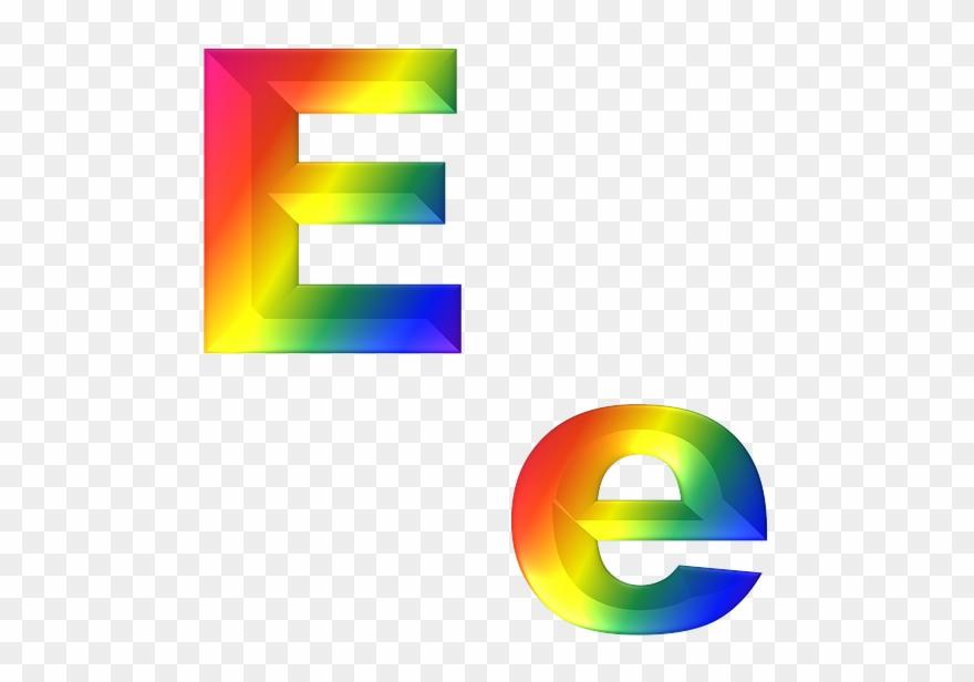 Letter, E, 3d, Abc, Alphabet, Rainbow - Chữ E In Hoa Clipart