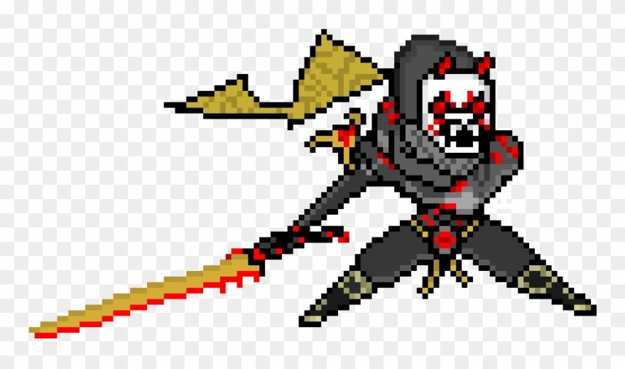 Oni Genji Pixel Oni Ninja Pixel Clipart 1579238