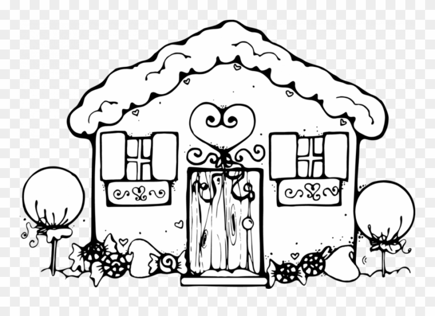 - Gingerbread House Coloring Pages Clipart Gingerbread - Gingerbread House Coloring  Sheets - Png Download (#1580602) - PinClipart