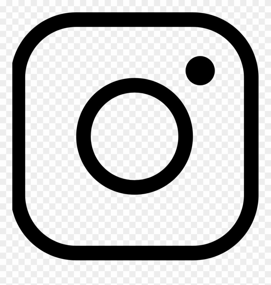 Instagram black. Icon free logo clipart