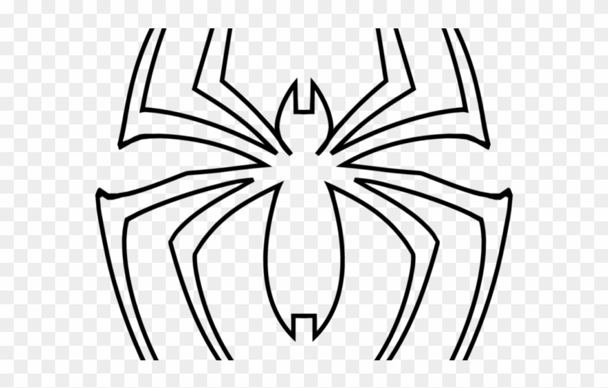 Drawn Spider Man Sign - Spiderman Logo Coloring Pages ...