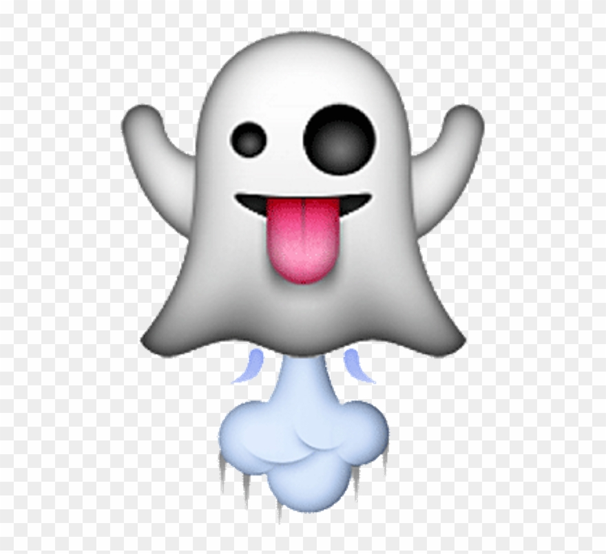 Officialstars Emoji Ghost Tounge White Red Black Ghost