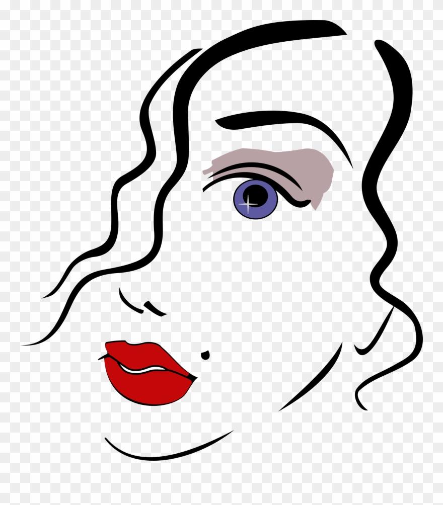 Big Image Woman Face Clipart Png Transparent Png 1590328 Pinclipart