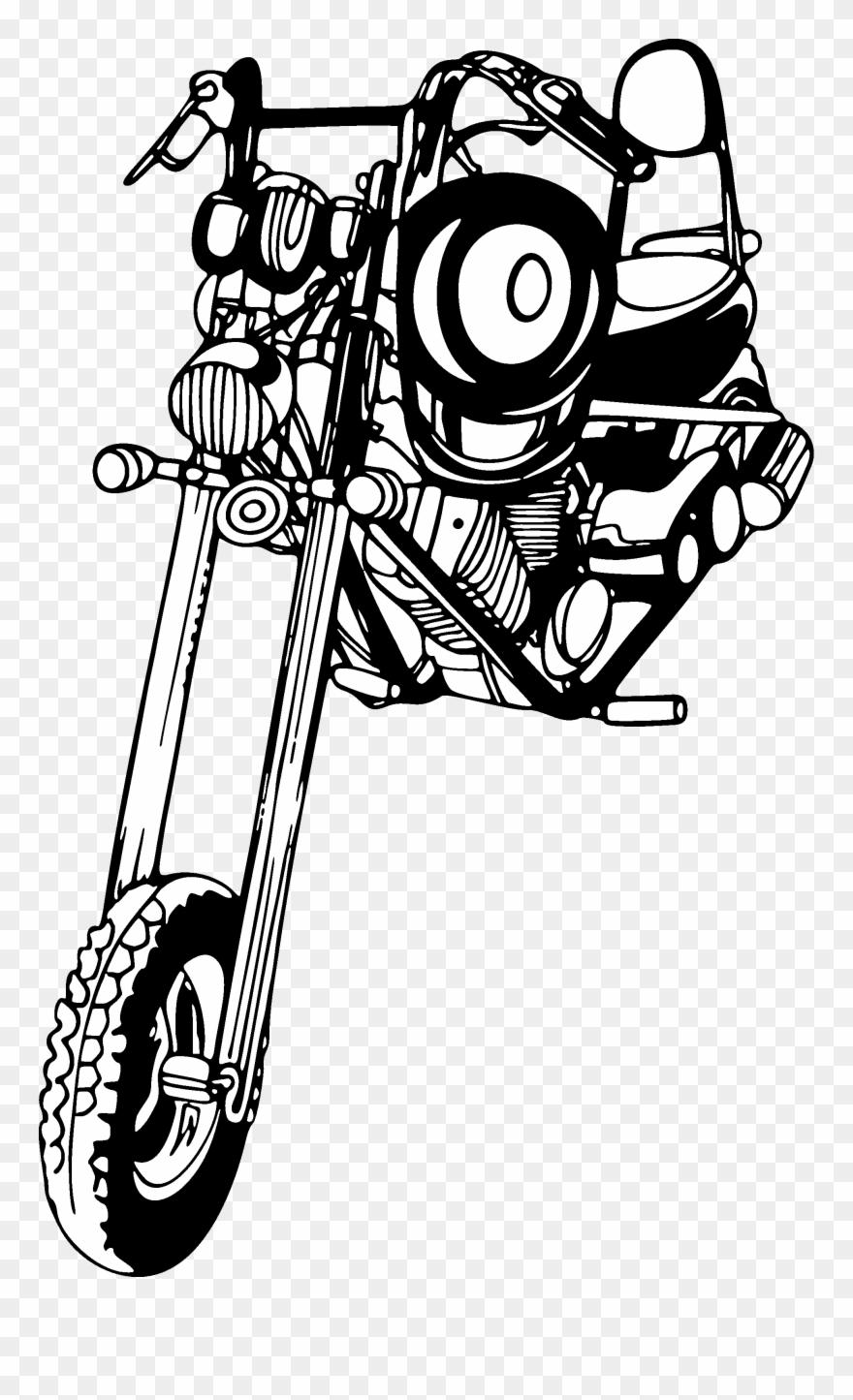 Chopper easy rider sticker clipart