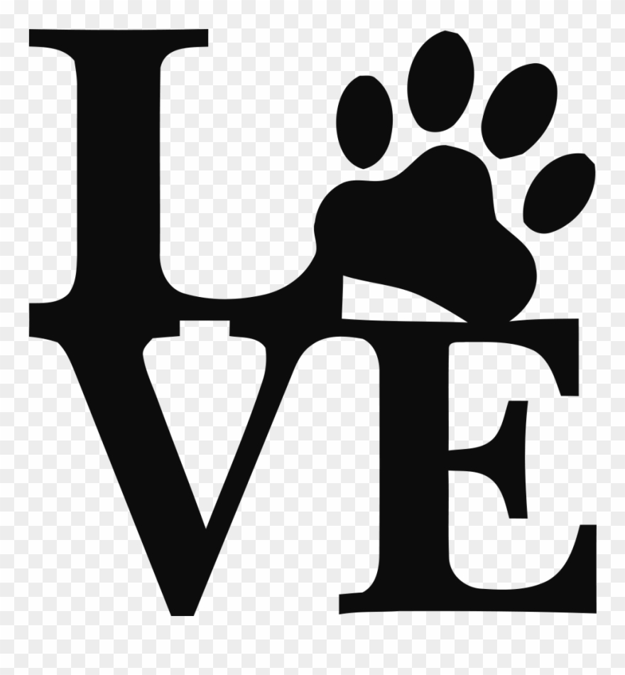 Welcome Love Paw Print Svg Clipart 160582 Pinclipart
