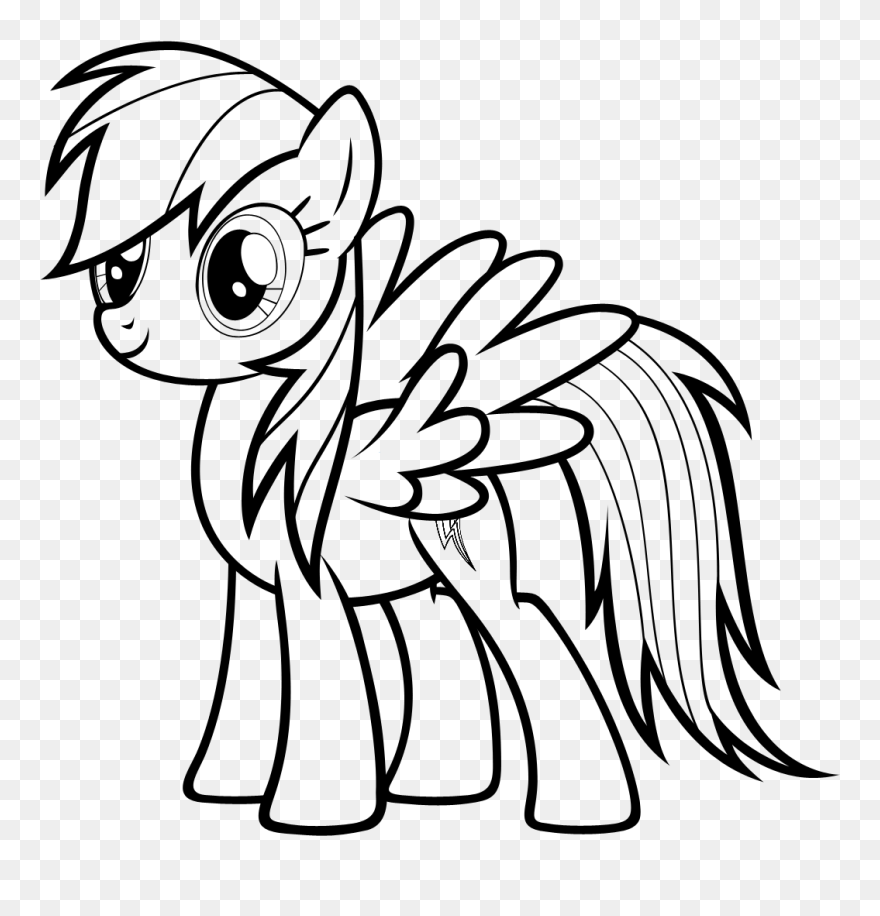 Rainbow Dash Coloring Pages - My Little Pony Drawing Rainbow Dash ...