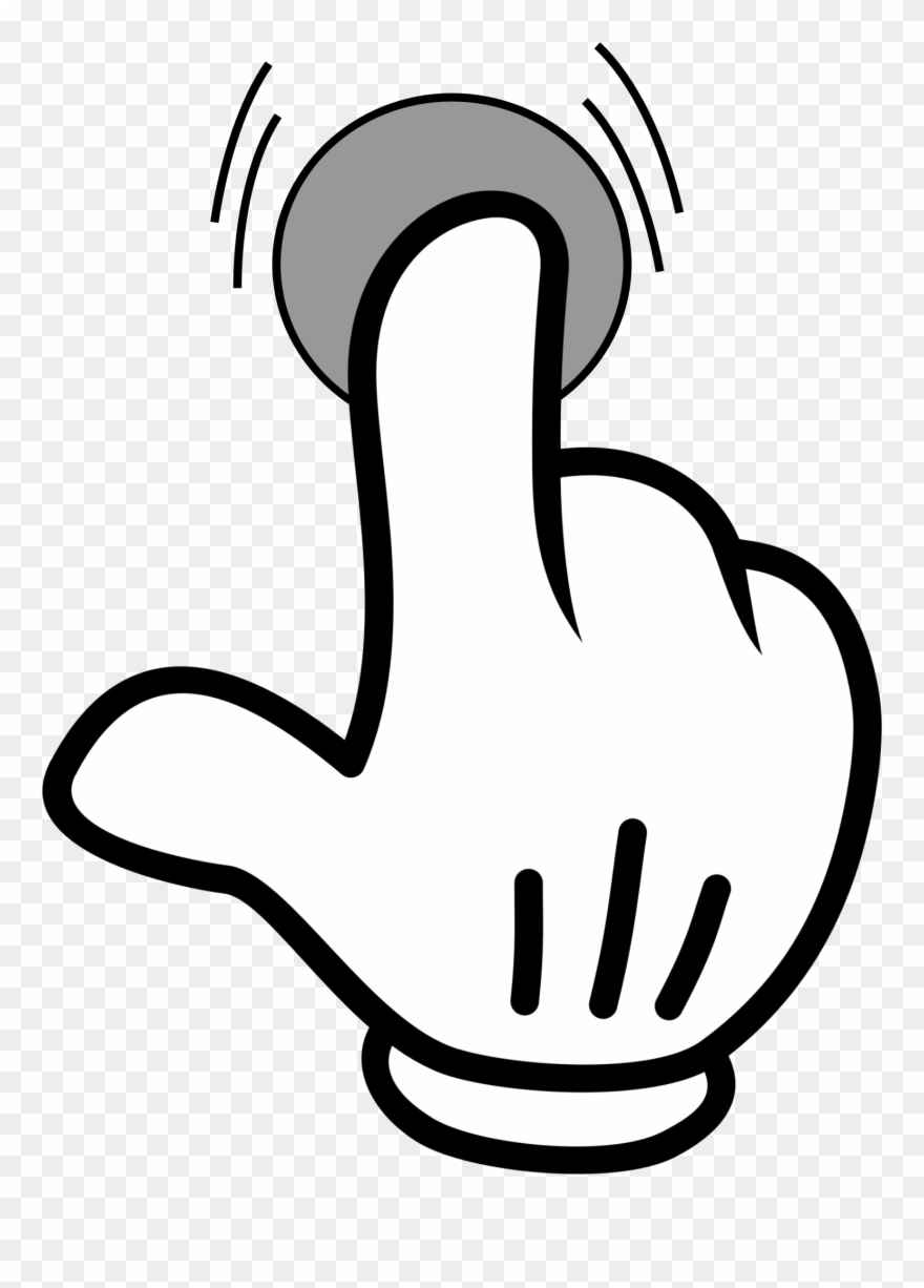 Index Finger Pointing Hand Computer Icons - Click Icon  png