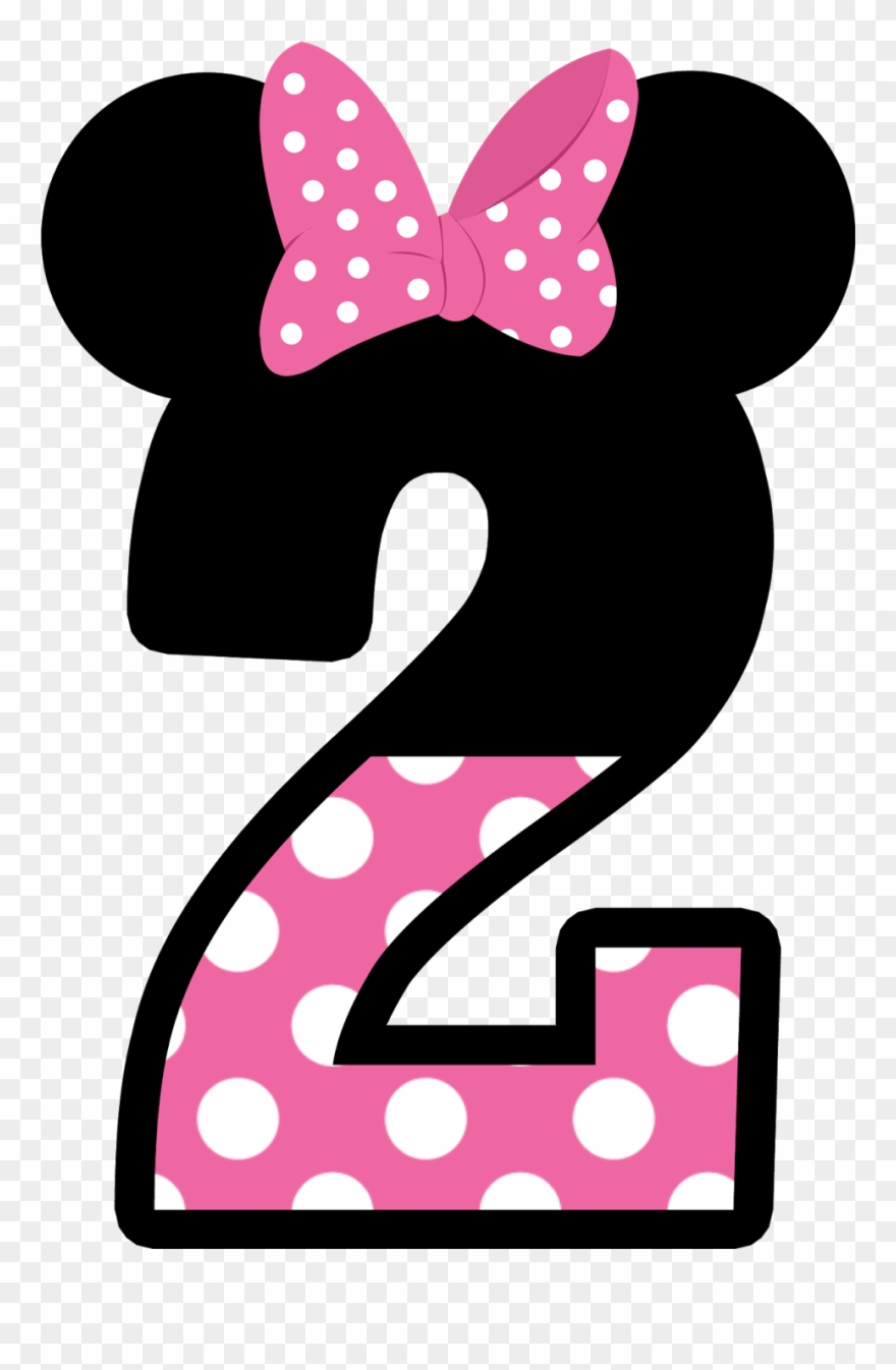 Numbers Clipart Minnie Mouse - Numero 3 Minnie Rosa - Png Download