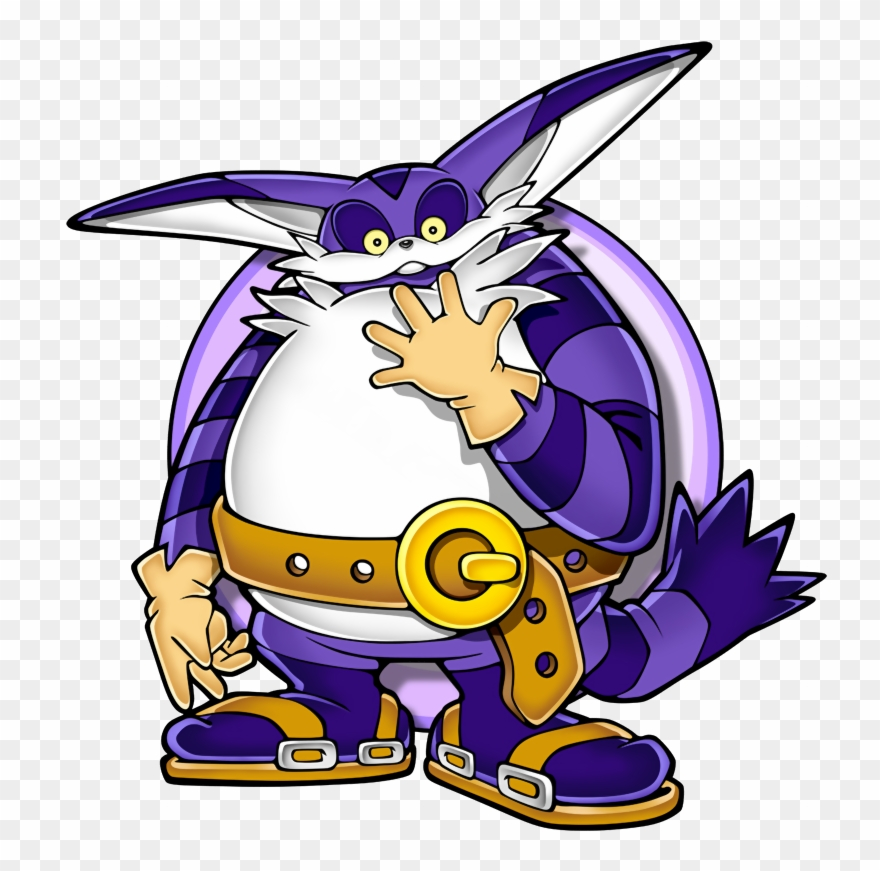 Sonic The Hedgehog Series Big The Cat Sonic Adventure Clipart 162339 Pinclipart