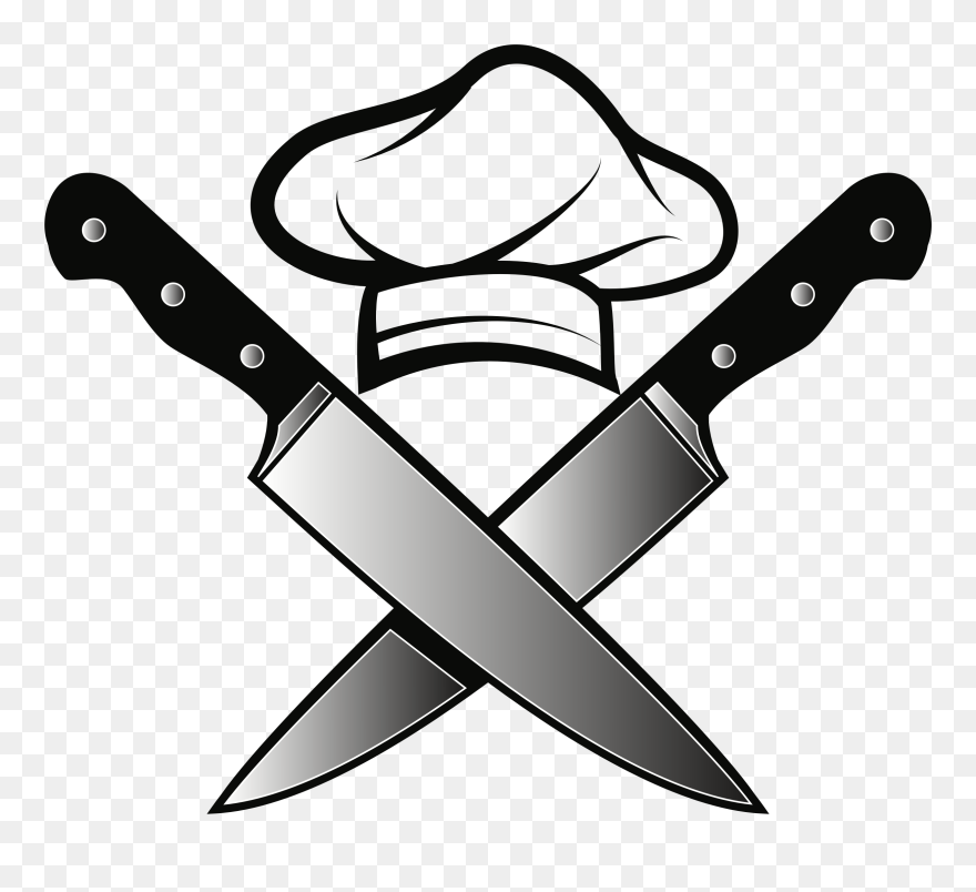 Chef S Knife Kitchen Knives Clip Art Chefs Hat Png Download 162732 Pinclipart