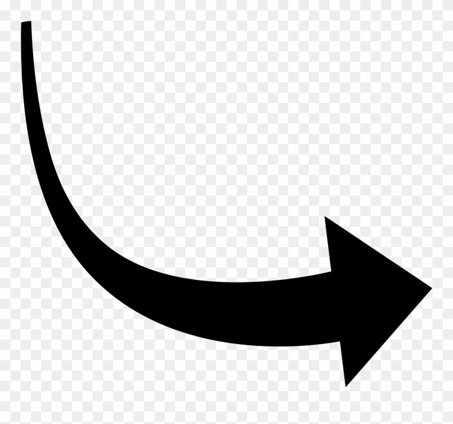 Corves Clipart Arched 2 Curved Arrow Clip Art Curve Arrow Vector