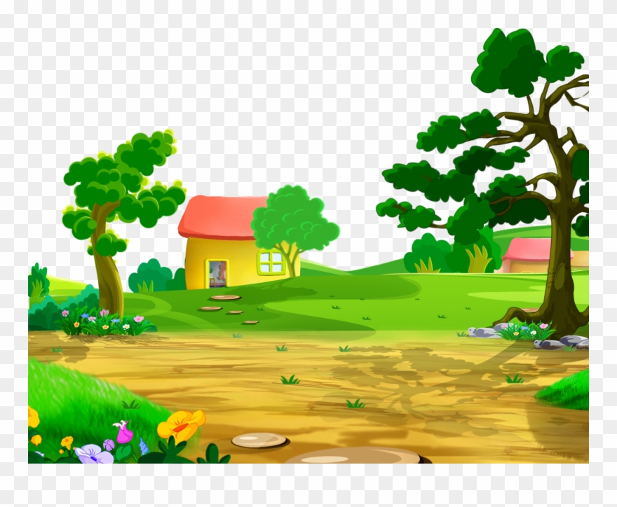 Natural Drawing Clipart Black And White Download Cartoon Nature Png Transparent Png 1605437 Pinclipart