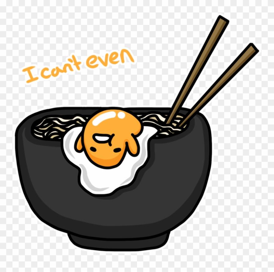 Gudetama emoji. Chopsticks transparent t shirt