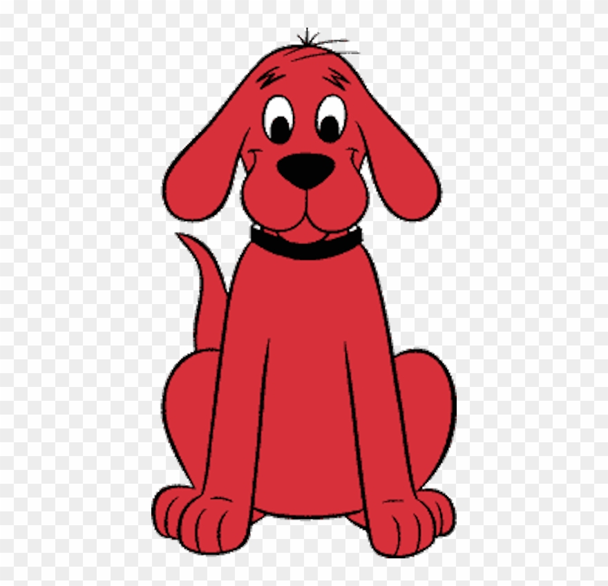 This is a graphic of Rare Clifford the Big Red Dog Clipart