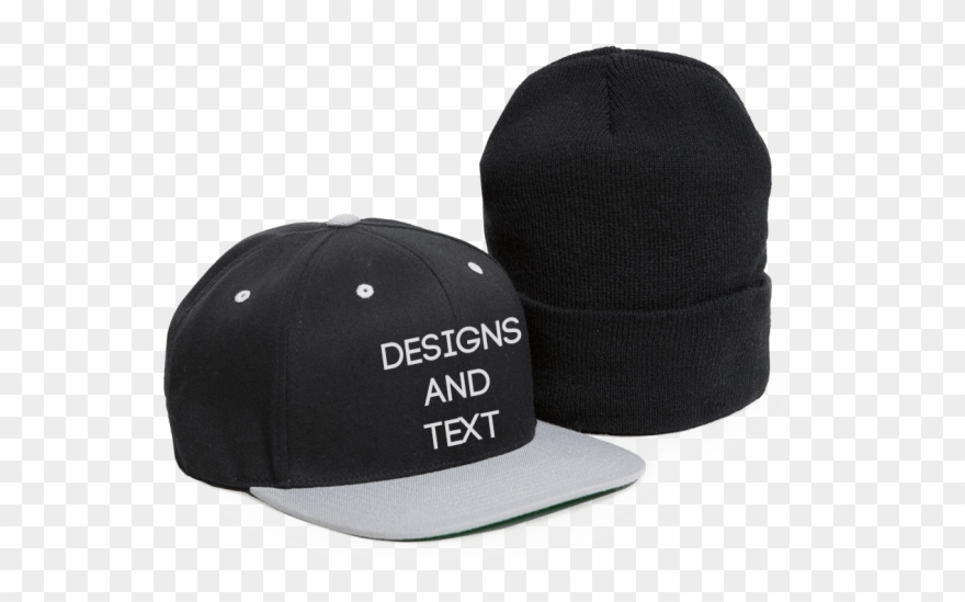 e4c6f25531fbe Clip Black And White Stock Custom Caps Hats Beanies - Custom Hat - Png  Download
