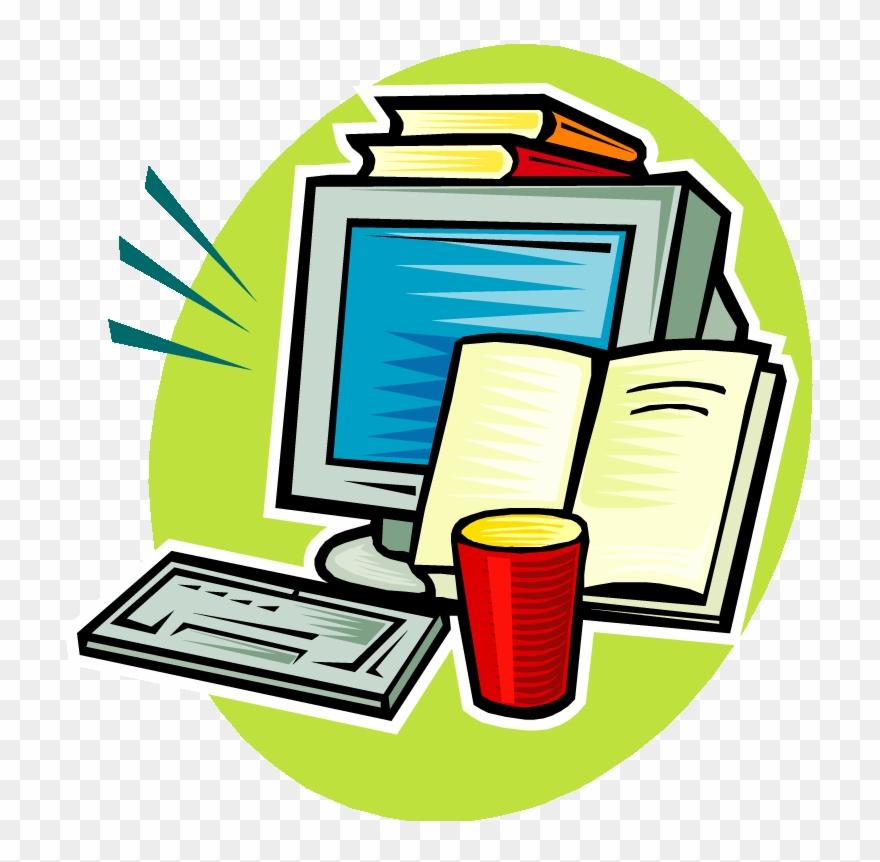 Computer Clipart Homework Computer Books Clipart Png Download 1652365 Pinclipart